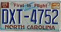 1981 North Carolina license plate DXT-4752.jpg