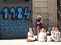 1984 George Orwell Graffito - Placa de George Orwell - Barrio Gotico - Barcelona - Spain (14141896840).jpg
