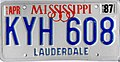 1987 Mississippi license plate - KYH 608.jpg
