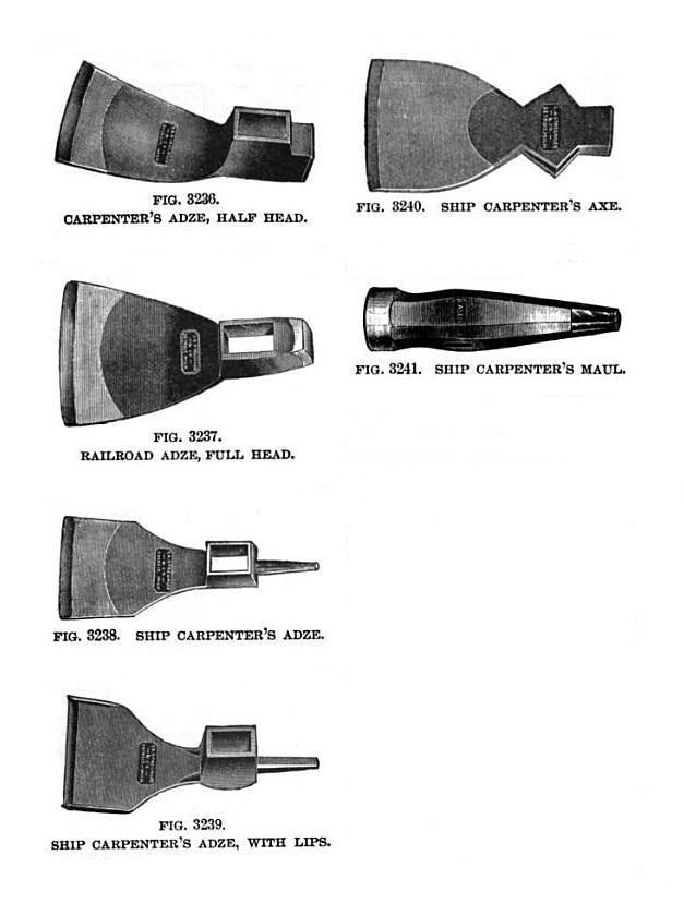 19th century knowledge woodworking adze and axe