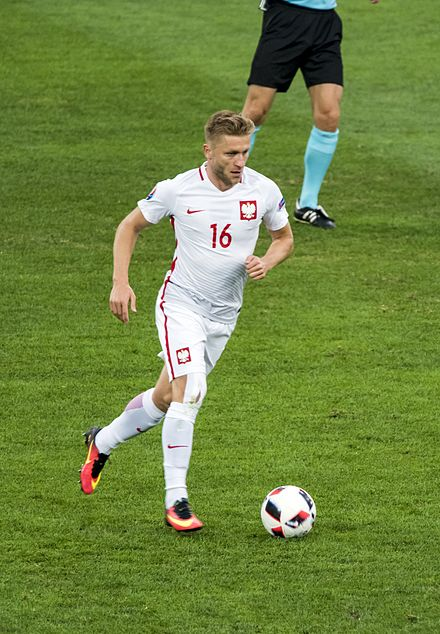 Jakub Blaszczykowski playing for Poland during the Euro 2016 quarter-finals match with Portugal, on 30 June 2016. 1 Jakub Blaszczykowski.jpg