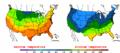 2002-10-06 Color Max-min Temperature Map NOAA.png