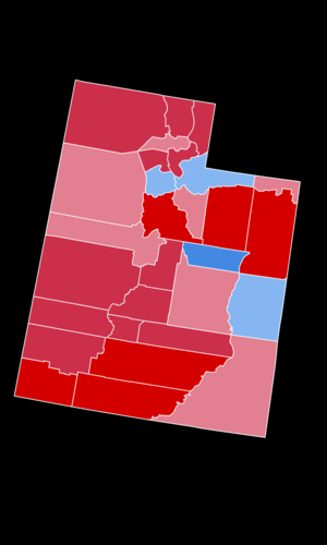 Utah gubernatorial election, 2004 - Image: 2004Utah Gubernatorial Election