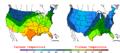 2005-11-13 Color Max-min Temperature Map NOAA.png