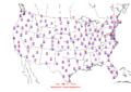2006-03-19 Max-min Temperature Map NOAA.png