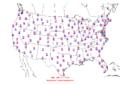 2006-04-03 Max-min Temperature Map NOAA.png