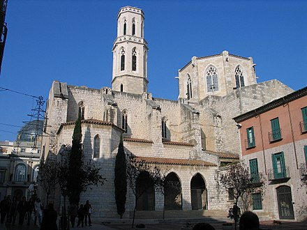 Church of Sant Pere in Figueres, site of Dali's baptism, first communion, and funeral 20061227-Figueres Sant Pere MQ.jpg