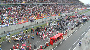 2007 Chinese Grand Prix - The starting grid before the beginning of the race.