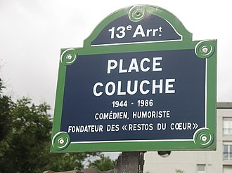 "Coluche - ""Place Coluche"" in Paris"