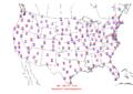 2009-08-01 Max-min Temperature Map NOAA.png