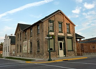 Montgomery, Minnesota - The Westerman Lumber Office and House structure is listed on the National Register of Historic Places.