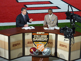 Desmond Howard - Chris Fowler and Desmond Howard conducting post-game coverage for College GameDay