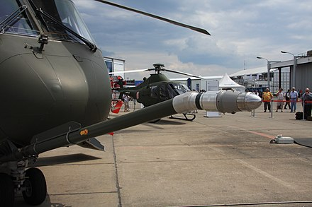 The probe of an AgustaWestland EH101 - Aerial refueling