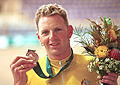201000 - Cycling track Paul Lake bronze medal bouquet - 2000 Sydney medal photo.jpg