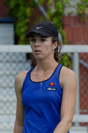 Galina Voskoboeva - Voskoboeva playing at the 2011 US Open