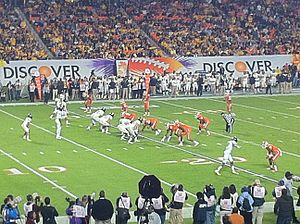 Geno Smith - Smith and the West Virginia offense lined up against Clemson's defense in the 2012 Orange Bowl