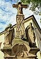 2012 Piotrowice koło Karwiny, Kalwaria z krzyżem, rzeźbami i płaskorzeźbą Świętej Weroniki (04).jpg