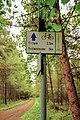 2012 Powiat cieszyński, Kaczyce, Znaki szlaków rowerowych w lesie Kaczok (01).jpg