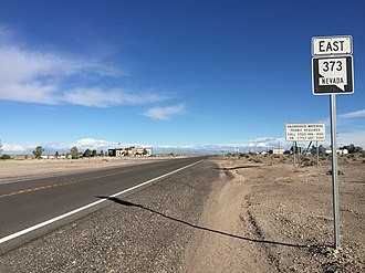 Nevada State Route 373 - View from the south end of SR 373 looking northbound