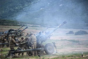 US Artillery Live Fire Exercise in Capo Teulada 2015 during NATO exercise Trident Juncture 20151102 Davide.Passone U.S. Artillery Training (2) (22126481703).jpg
