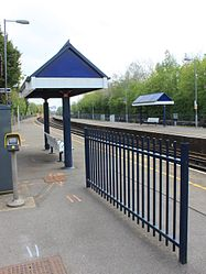2015 at Redbridge station - waiting shelters.JPG