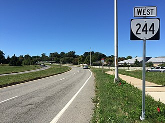 Virginia State Route 244 - View west at the east end of SR 244