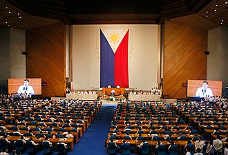 State of the Nation Address (Philippines) - President Rodrigo Duterte delivers his first State of the Nation Address at the Session Hall of the Batasang Pambansa Complex on July 25, 2016.