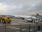 2017-12-15 Flybe aircraft Embraer 195 (G-FBEN), Norwich Airport.JPG