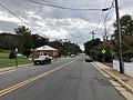 2018-10-11 13 08 47 View south along Virginia State Route 245 (Fauquier Avenue) at Virginia State Route 55 (Main Street) in The Plains, Fauquier County, Virginia.jpg