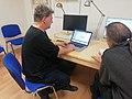 2019-11-07 Tosh Leykum und Onkel Tomm bei Wikipedia Hannover.jpg