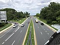 2020-08-03 15 44 51 View east along Maryland State Route 150 (Eastern Avenue-Boulevard) from the overpass for for Maryland State Route 151 (North Point Boulevard) in Dundalk, Baltimore County, Maryland.jpg