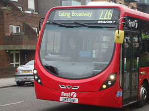 226 Streetlite on it's journey towards Ealing Broadway.JPG