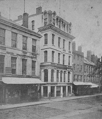 Boston Daily Advertiser - Daily Advertiser building, Boston, c. 1870s
