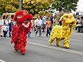 2 chinese dragon costumes at day of the city; 14.09.19.jpg