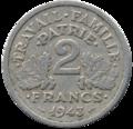 2 francs état français revers.png