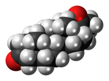 5alpha-Dihydroprogesterone 3D spacefill.png