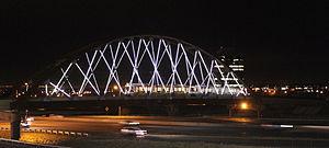 W Line (RTD) - W Line bridge over 6th Avenue near the Federal Center