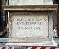 9791 - Firenze - Colonna di S. Trinita - Dedica di Cosimo de' Medici, 1570 - Foto Giovanni Dall'Orto, 27-Oct-2007.jpg
