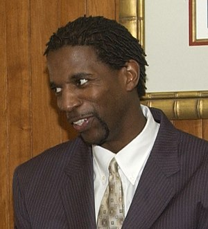 A. C. Green - Green visits the United States Department of Housing and Urban Development in 2004.