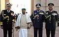 A. K. Antony and the Three Service Chiefs, General V.K. Singh, Admiral Nirmal Verma and Air Chief Marshal P.V. Naik after paying tributes at the Amar Jawan Jyoti to mark Vijay Diwas.jpg