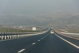 Economy of Romania - A1 motorway near Orăștie