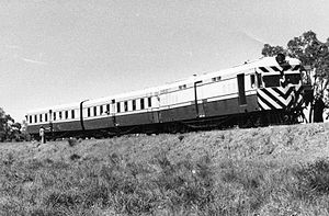 WAGR ADF/ADU class - ADF490 and two ADUs on a test run in 1949