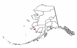Location of Kwigillingok, Alaska