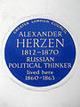 ALEXANDER HERZEN 1812-1870 RUSSIAN POLITICAL THINKER lived here 1860-1863.jpg