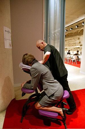 Français : AMMA ASSIS - Massage sur seat