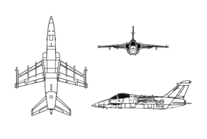 Orthographically projected diagram of the AMX.