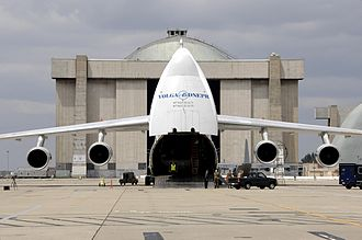 Volga-Dnepr Airlines - Volga-Dnepr AN-124 at Moffett Federal Airfield transporting California Air National Guard (ANG) helicopters to Afghanistan