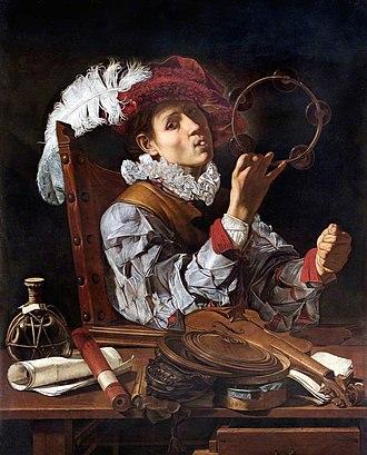Cecco del Caravaggio - Image: A Musician by Francesco Buoneri called Cecco del Caravaggio
