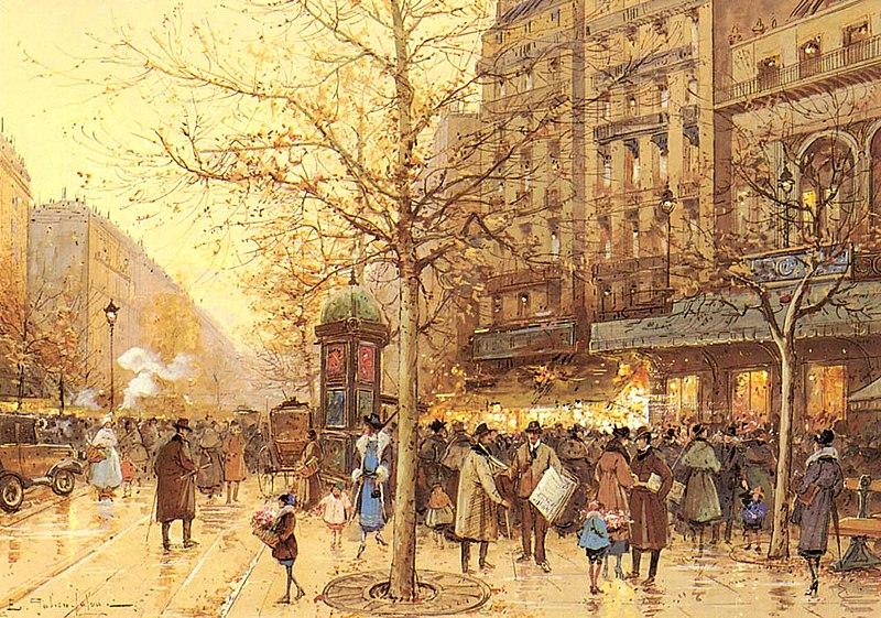 File:A Paris Street Scene.jpg