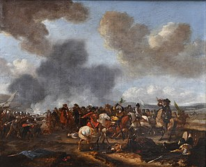 A Cavalry Battle Scene between Polish Hussars and Ottoman forces